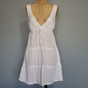 White summer sun dress or a swimsuit cover
